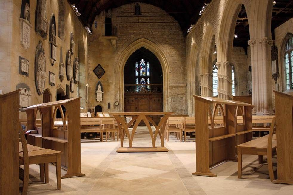 Bradford on Avon Holy Trinity new chancel and nave furniture, new lighting, floor and heating